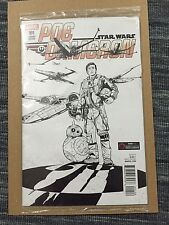 STAR WARS POE DAMERON #1 GAMESTOP EXCLUSIVE BLACK & WHITE VARIANT 1,500 MADE