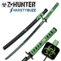 ZOMBIE HUNTER BLACK Katana NINJA Samurai Sword BIOHAZARD TSUBA Carbon Steel NEW