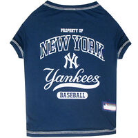 New York Yankees Officially Licensed MLB Dog Pet Tee Shirt, Navy Sizes XS-L