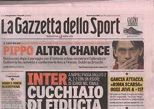 LA GAZZETTA DELLO SPORT=9/3/2015=NAPOLI-INTER 2-2=UDINESE-TORINO 3-2=CHIEVO-ROMA