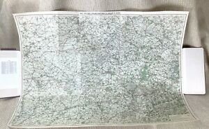 1906 Antique Map of Reading Berkshire Surrey Oxford Henley Edwardian Bicycle