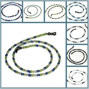 Glass Beaded Eye Glasses Cord Chain, Male & Female VARIOUS COLOURS, new