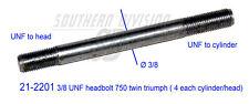 Triumph 750 Twin T140 TR7 21-2201 head stud  kopfschraube stehbolzen 3/8 UNF