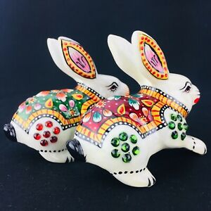 NEW Collectable Ceramic China Bunny Rabbit Figurine Hand Painted GIFT