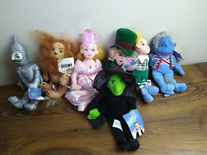 NWT The Wizard of Oz 1998 Warner Bros. Store WB Plush Dolls Characters Lot of 7