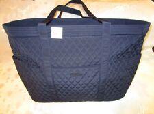 VERA BRADLEY Get Carried Away Tote Bag XL CLASSIC NAVY Microfiber