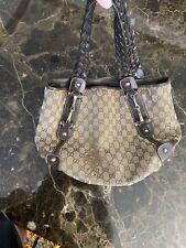 Authentic Gucci Tote Pelham GG Monogram Gucci Handbag Horsebit Guccissima