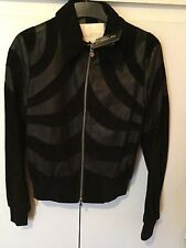 RARE Nwt Designer Patrizia Pepe Real Leather And Suede Jacket Fits Uk 8-£950
