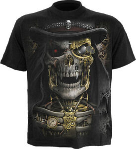 Spiral Direct STEAMPUNK REAPER Mens T-Shirt, Victorian, Biker, Rock, Clothing