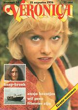 VERONICA 1976 nr. 34  - URIAH HEEP / ANS BEENTJES / FIRATO / TOP 40