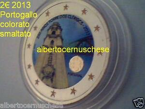 2 euro 2013 PORTOGALLO smaltato colorato Portugal 250 Torre Clerigos Clérigos