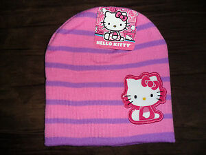 Hello Kitty Girls knit Beanie Hat Colors: White/Pink, Pink/Purple OSFM new