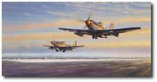 "Leiston Legends by Jim Laurier- Signed by Chuck Yeager & ""Bud"" Anderson - P-51's"
