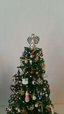 Miniature Westrim Beaded Christmas Tree / Dollhouse Tree Topper *Silver Filigree