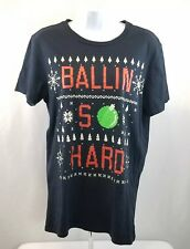 "AMERICAN EAGLE Outfitter ""Ballin So Hard"" T-shirt CHRISTMAS Small ☆FREE Shipping"