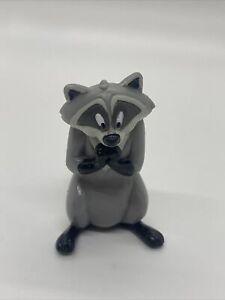 Vtg Pocahontas Meeko Biscuit Mini PVC Figure Disney Applause Raccoon Cake Topper