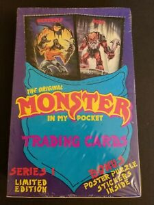 1991 MONSTER IN MY POCKET TRADING CARD FACTORY SEALED BOX
