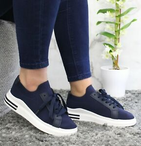 Lace Up Sock Trainers Women Mesh Running Sneaker Ladies Jogging Sport Shoes Size
