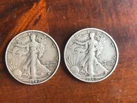 USA  1942 SILVER HALF DOLLAR COINS - FREE POST