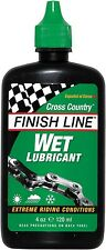 FINISH LINE WET EXTREM BICI CICLO CATENA incassati LUBRIFICANTE 8oz 240ml Workshop BOTTIGLIA
