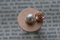 -Traum- Rosenaufsatz aus massiv Sterling Silber roségoldplattiert - Charlotte 21