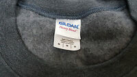 Dark Heather color is this Gildan Heavy Blend Crewneck Cozy Sweat shirt size M