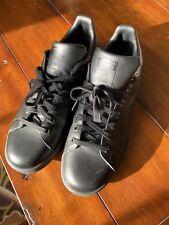 Adidas Stan Smith M20327 Black Unisex Tennis Shoes (10 1/2) / used? w/box