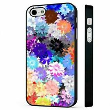 Flowers Pattern one BLACK PHONE CASE COVER fits iPHONE