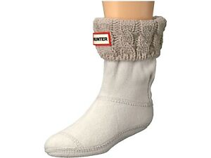 Hunter 265775 Kids Half-Cardigan 6 Stitch Cable Boot Socks Size Medium 11-13