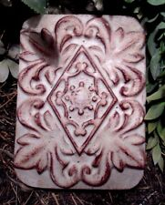 "Gostatue plaster,concrete tuscan w/ diamond decor mold 8.25"" x 6.25"" x 1.25"""