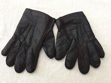 Portolano Men's Nappa Slit Gloves Leather Cashmere Knit Lining
