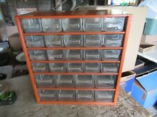 Vintage Metal Parts Organizer 28 Drawer Made In Denmark 6x12x13 Lot 21 51 5