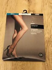 AUTOGRAPH LADIES LADDER RESIST LUXE WARM TOES TIGHTS NAVY SMALL NEW