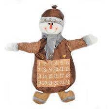 Tissu Noël Bonhomme de neige calendrier de l'avent Noël Décorations