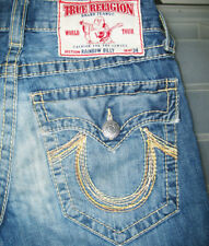 *HOT! 100% AUTHENTIC Men's TRUE RELIGION @ BILLY RAINBOW BOOTCUT Jeans 29 x 32