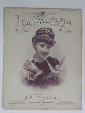 "Vintage Sheet Music ... Mother's Darling ""Cradle Song"" ....1800s!!"