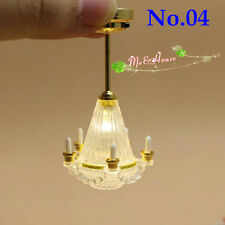 1 12 Dollhouse Kit Accessories Miniature Light Chandelier Led Use Bat