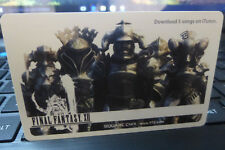Final Fantasy XII 12 Preorder Bonus iTunes Promo Card - Brand New Japan Import