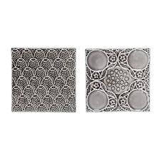 Deko Fliesen 2er Set grau Keramik Retro Skandinavisch Bloomingville