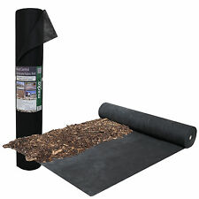 100M X 1M WEED CONTROL FABRIC GROUND COVER MEMBRANE LANDSCAPING POROUS ROLLS NEW