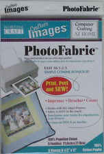Photo Fabric Cotton Poplin, print permanent images on photo fabric 5 x A4 sheets