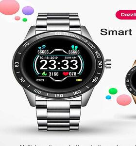 Neu Lige Smart watch silver  Bluetooth Pulsuhr Blutdruck   IP67 wasserdicht
