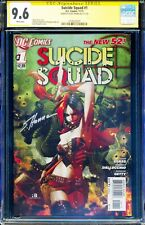 *SIGNED SCOTT HANNA* Suicide Squad 1 New 52 CGC 9.6 SS Harley Quinn 1st Print DC