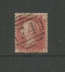 GB 1858 QV 1d Victoria Penny Red Plate 96  SG43 Used(B I)