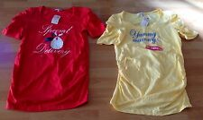 BNWT Yellow Yummy Mummy & Red Special Delivery Uk12 Papaya Maternity Tops Duo