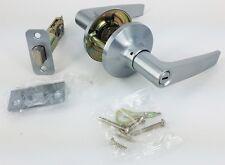 handle door lock privacy bathroom toilet bedroom lever lock set satin chrome