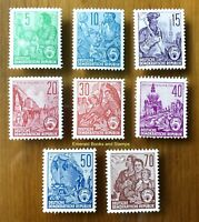 EBS East Germany DDR 1958-59 5 Year Plan Fünfjahrplan VI Michel 577B-585B MNH**