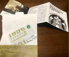 """Starbucks Japan Card """"GINZA 20th Anniversary"""" limited edition Rare Pin Not Shave"""