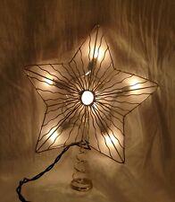 Santa's World Kurt Adler Illuminated Star Christmas Tree Top Topper Light
