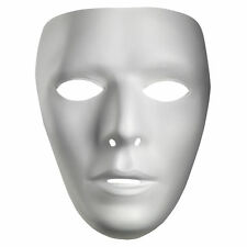 Blank White Mask Best Mtvs Dance Crew White Mime Artist Male Costume Accessories